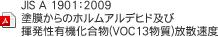 JIS A 1901:2009 塗膜からのホルムアルデヒド及び揮発性有機化合物(VOC13物質)放散速度